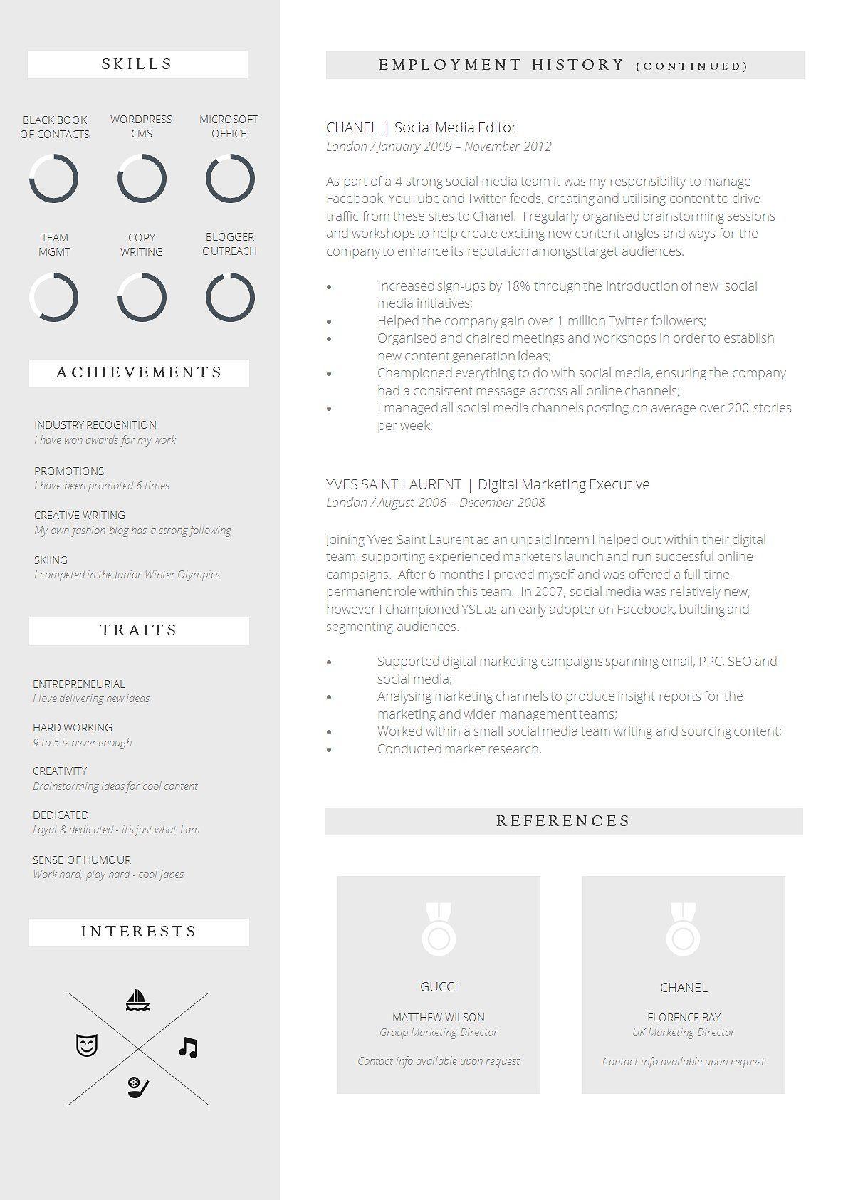 Creative Resume Template CV Design Resume template