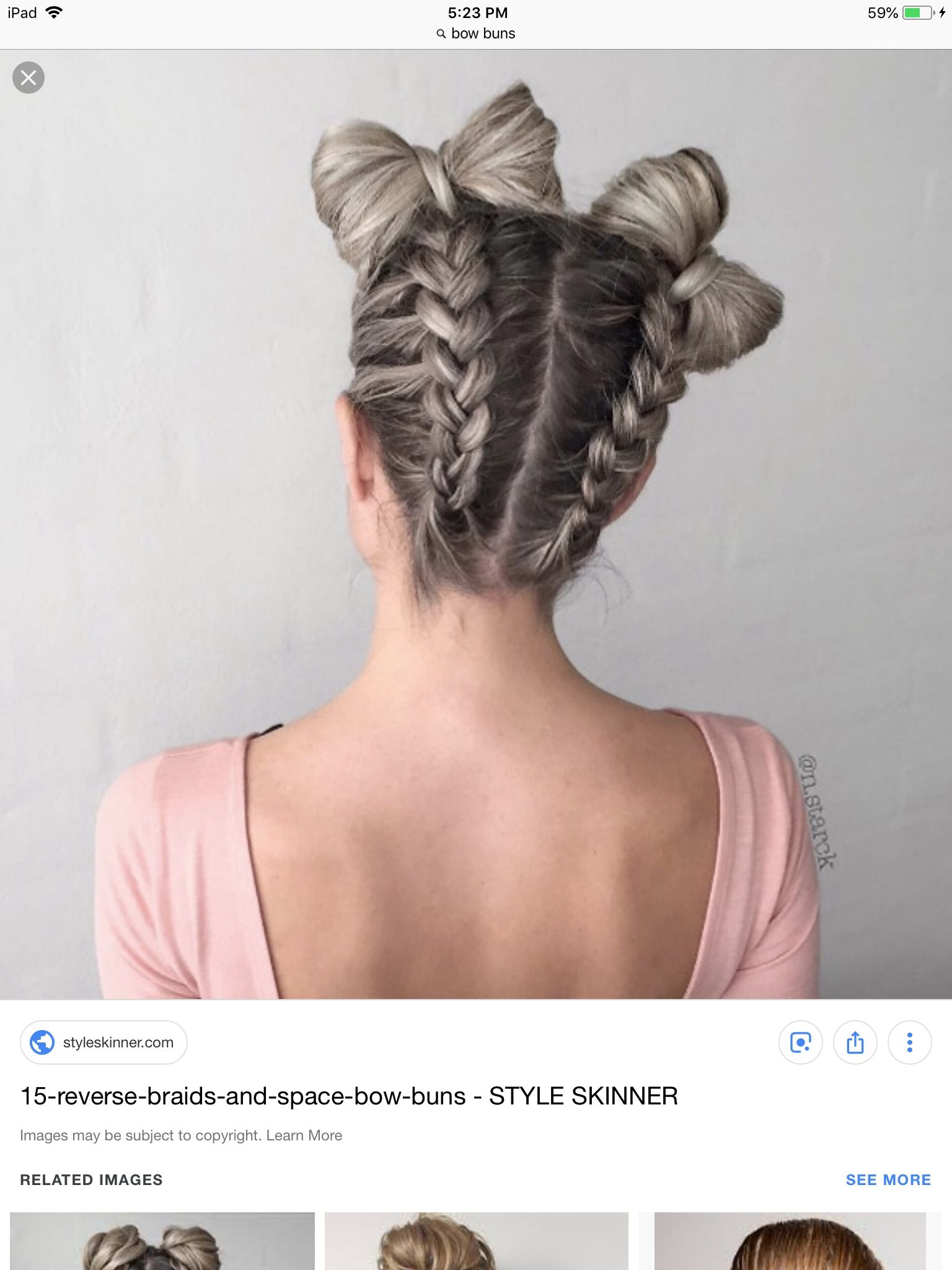 Reverse French Braid Hairstyle With Bow Pigtails Braided Bow Hairstyle Bow Hairstyle French Braids Tutorial