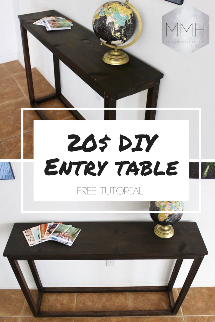 Diy Entry Table Diy Entry Table Diy Entryway Table Entry Table