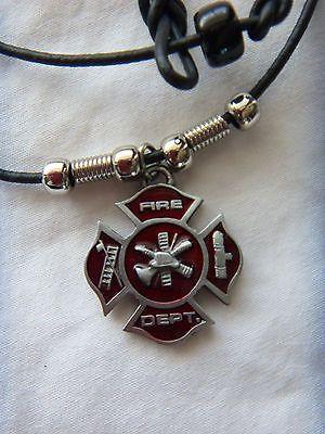 Firefighter maltese cross fire department pendant necklace gift firefighter maltese cross fire department pendant necklace aloadofball Choice Image