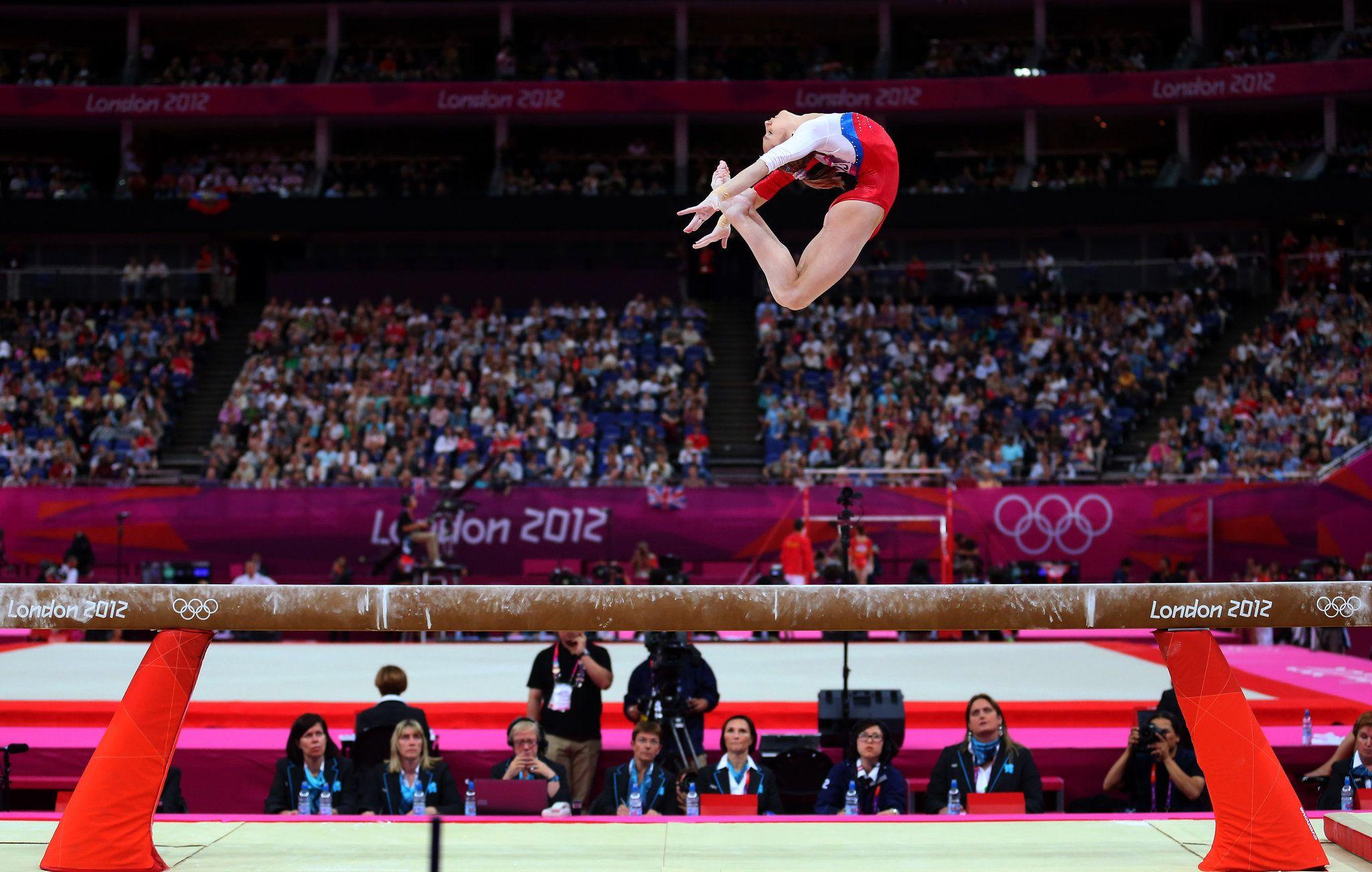 Viktoria Komova on balance beam at the 2012 Olympics ... Balance Beam Gymnastics Olympics