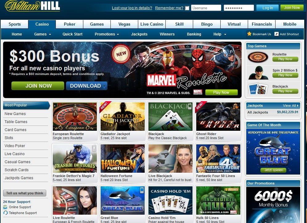 William Hill Live Casino Login