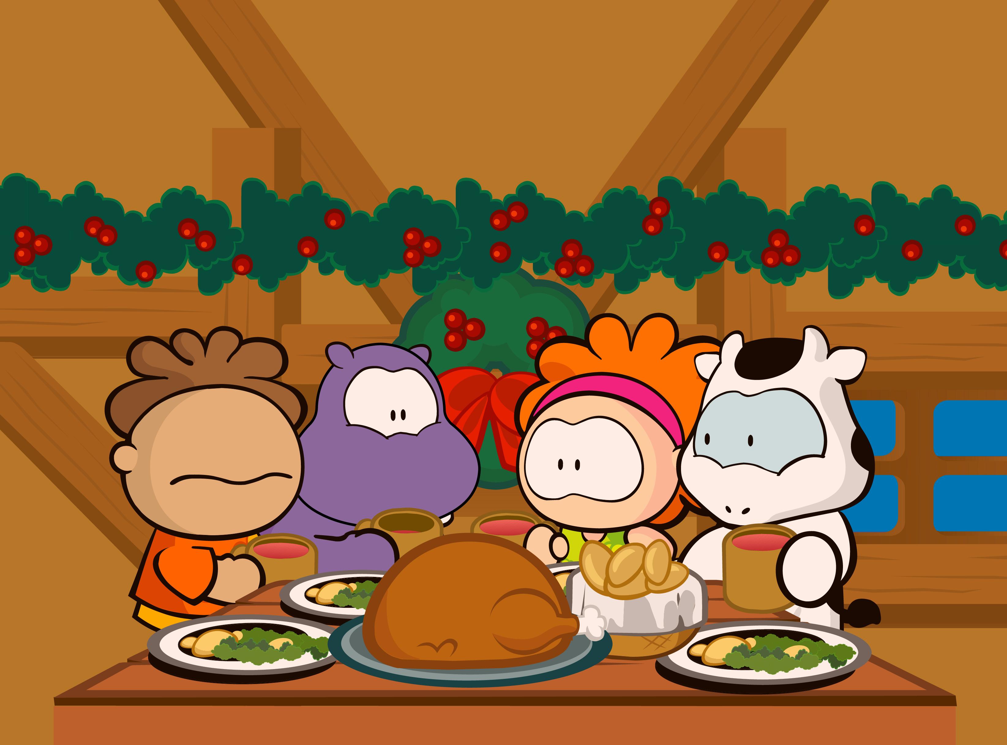 Cena De Navidad Cowco Y Sus Amigos Vector Cenas De Navidad Cena De Navidad Cowco