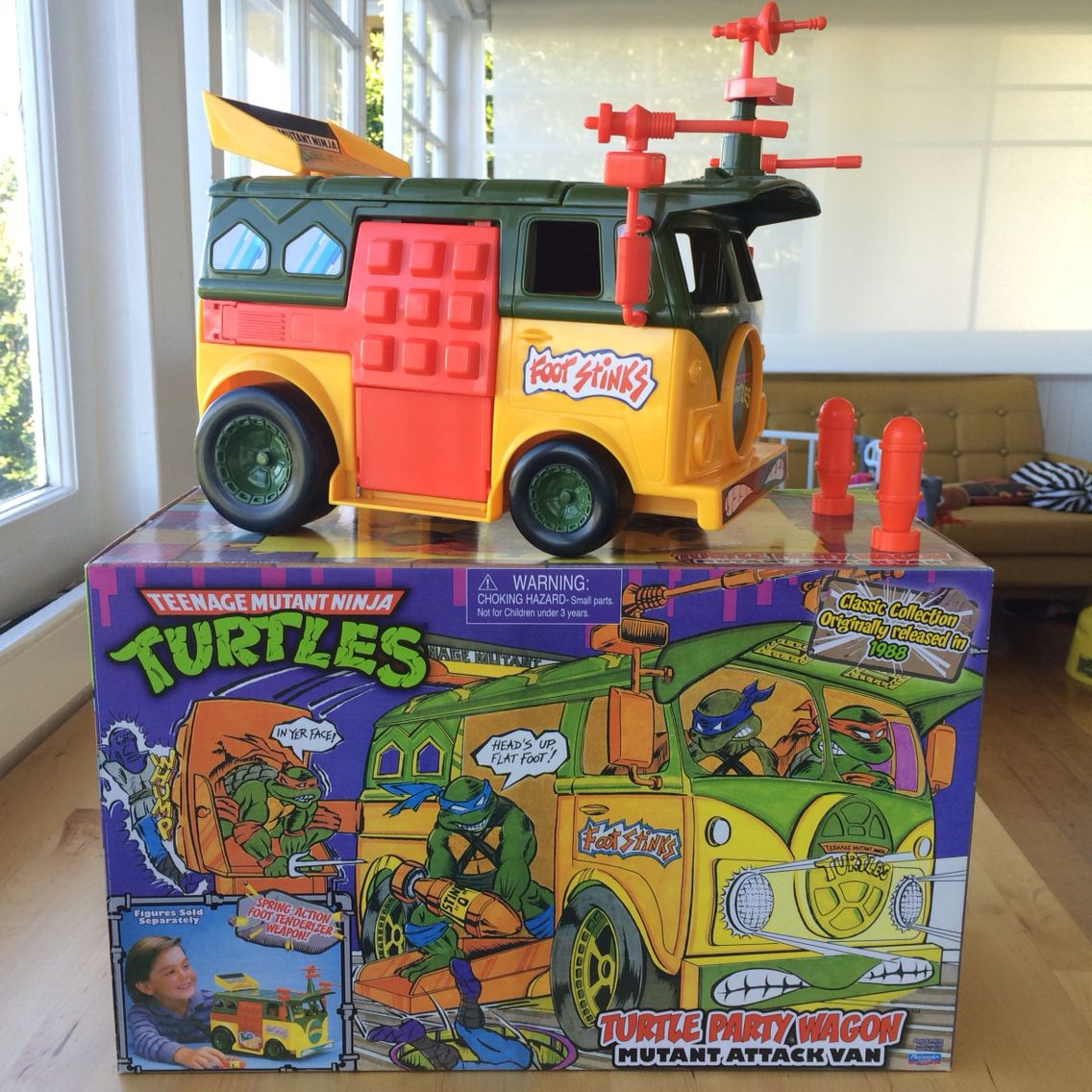 137b4c972c130 TMNT Party Wagon Classic Collection reissue in 2013. | Freakin Toys ...
