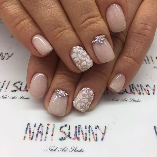 Nail Art Ideas For Prom: Elegant Prom Nail Design For Short Nails
