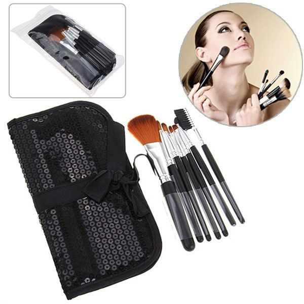 Fashion 7PCS Soft Make-up Brushes with Elegant Black Bag can be purchased from #RoseWholeSale Online Store with Promotional Coupons and Vouchers.