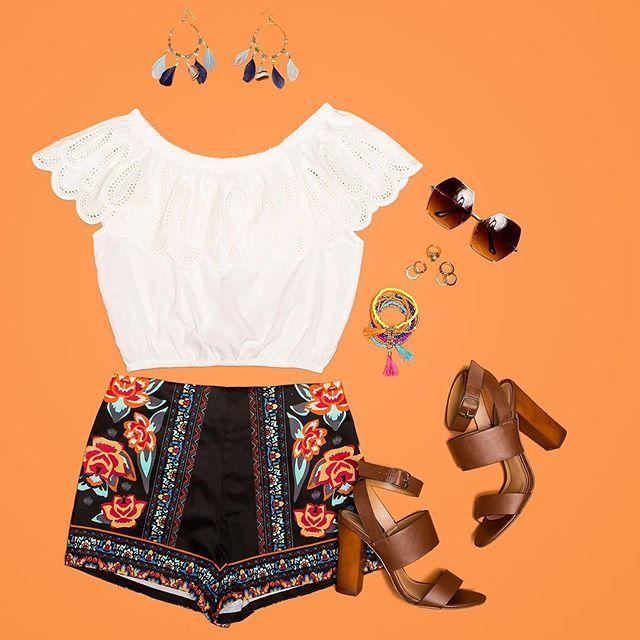 Be summertime fine in our Freya Border Printed Shorts. Shop link in bio! #agacigirl #ootd #flatlay