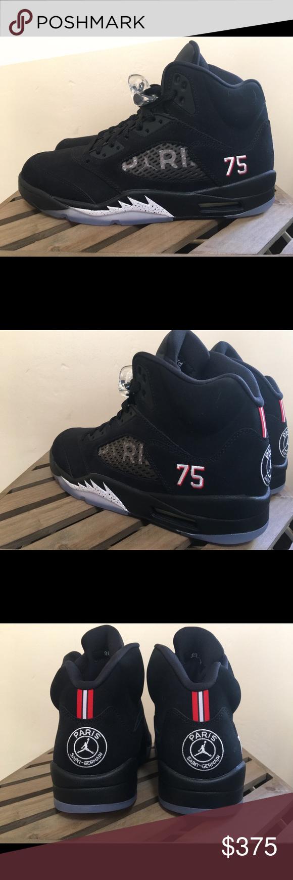 "604b6921272 Air Jordan 5 ""Paris Saint Germain"" Size 10 Brand new. Never worn. Jordan  Brand x Paris Saint Germain collab. Collector's edition."