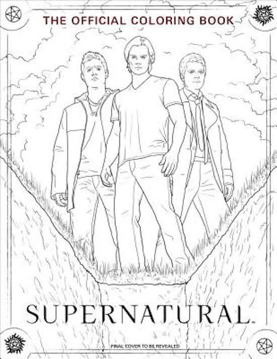 Supernatural Coloring Book Bol 15 49 Coloring Books