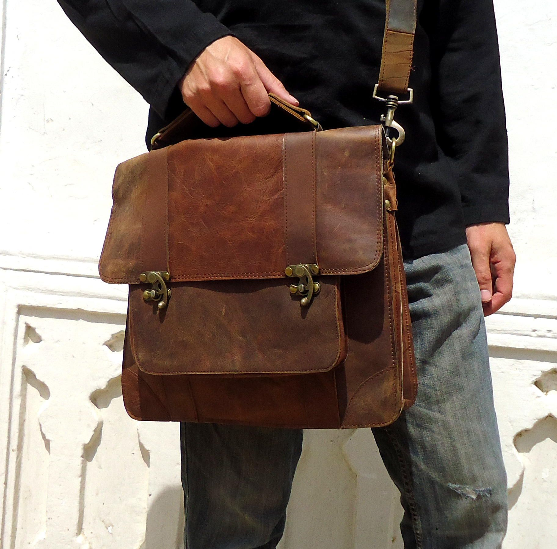 Laptop Messenger Bags For Men Leather images | Mens_leather ...