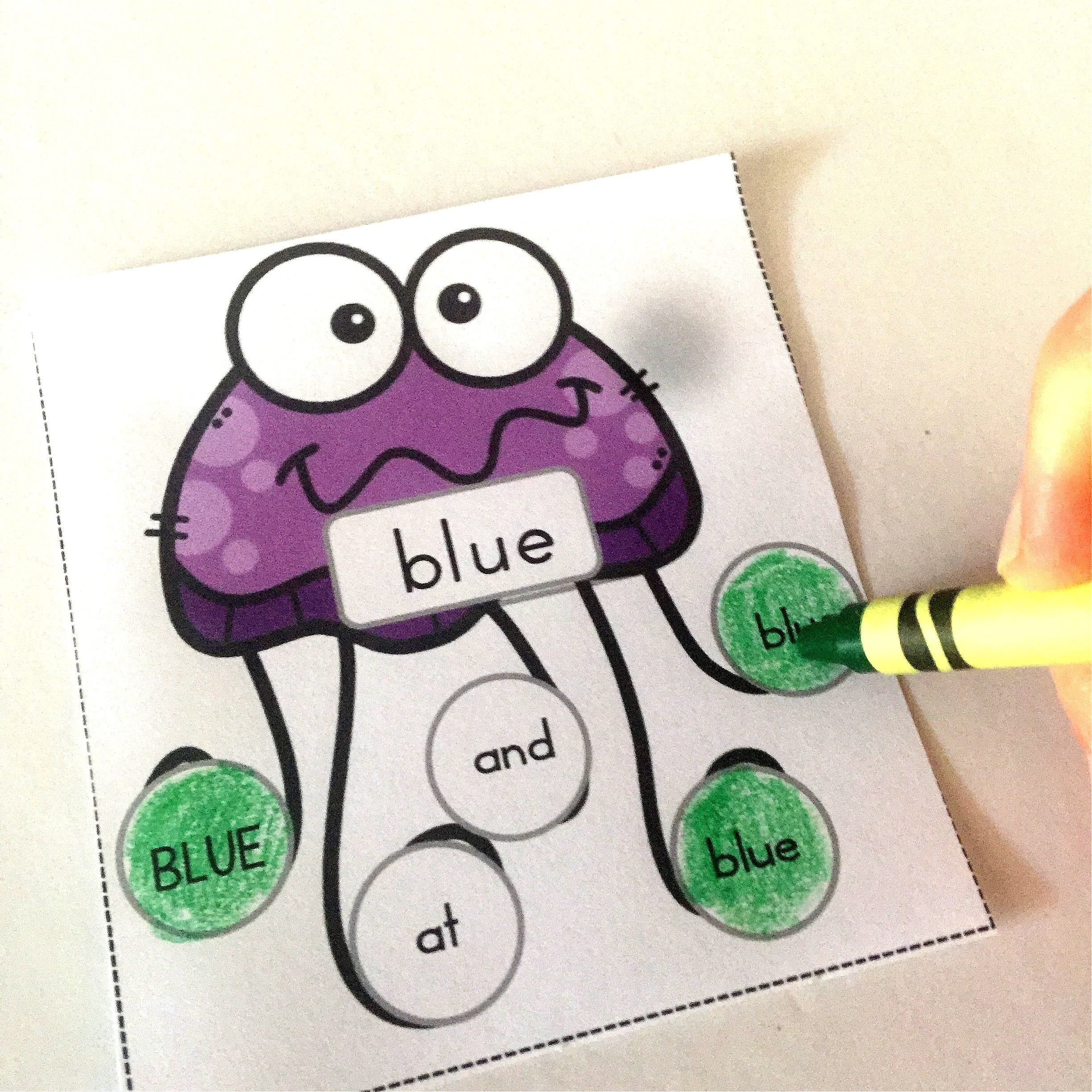 Sight Word Recognition Activity Dab A Word Pre Primer Set