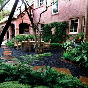 Landscape Black Gravel Design Ideas, Pictures, Remodel, And Decor Really  Like The Gravel