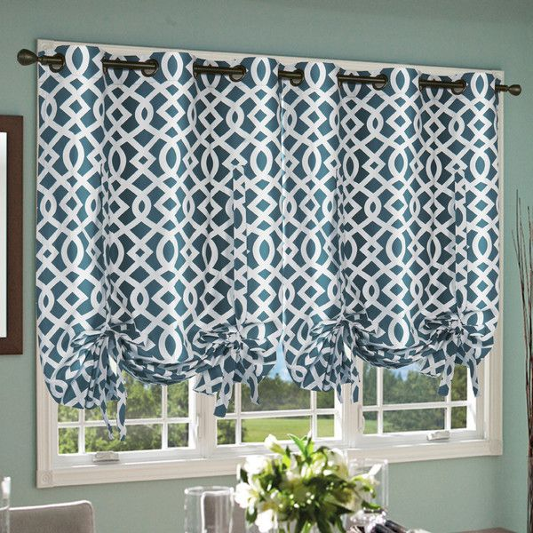 Trellis Grommet Tie Up Shade Tie Up Curtains Balloon Curtains Tie Up Shades