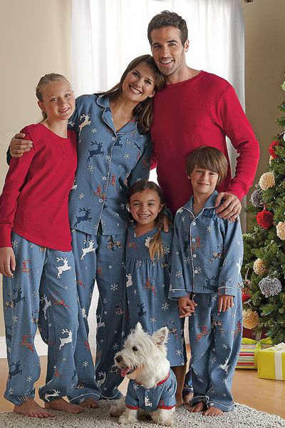 matching flannel christmas pajamas for the family