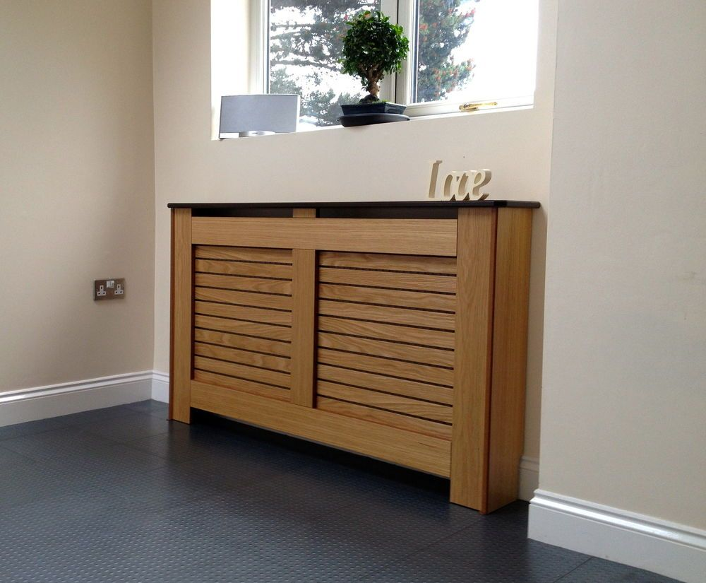 Oak Radiator Covers / Cabinets Made To Measure