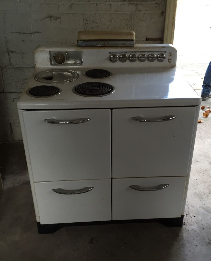 General Electric Ge 1950 S Stove Oven White Vintage Generalelectric