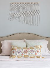 Are Blush And Gray The New Neutrals? #graybedroomwithpopofcolor This chic bedroo #graybedroomwithpopofcolor
