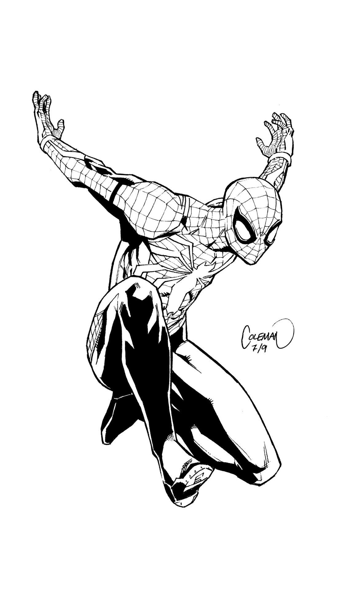 Ruairicoleman Spider Man Ps4 Warm Up Sketch Spiderman Marvel Comics Artists Spiderman Ps4