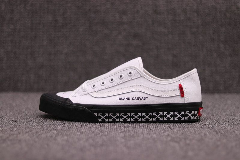 9f6289aabd OFF WHITE 2018 x Vans Old Skool White Black VN000D3HY2018 WTS1987 Blank  Canvas Shoe Vans For Sale - Click Image to Close