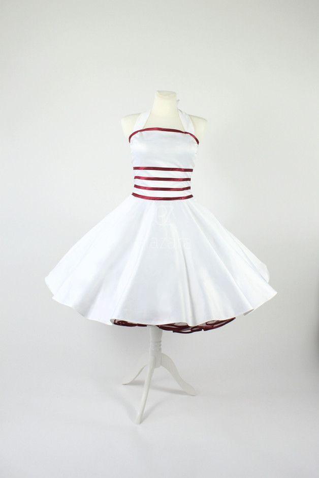 Brautkleid im 50er Jahre Stil, Petticoat Kleid, Petticoatkleid im ...
