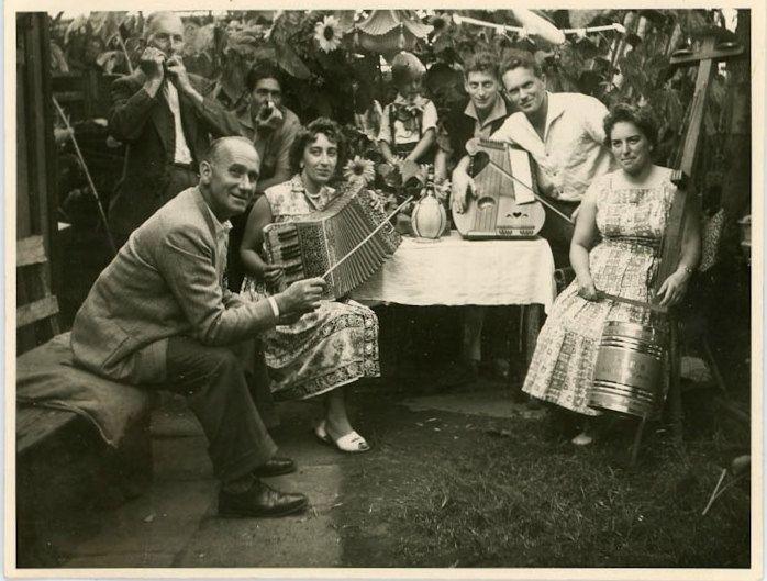 "Vintage Photo ""Backyard Party"", Photography, Paper Ephemera, Antique, Snapshot, Old Photo, Collectibles - 0089. via Etsy."