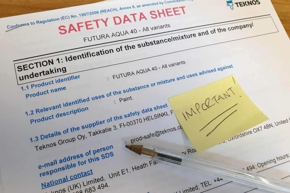 Understanding Paint Safety Data Sheets Data sheets