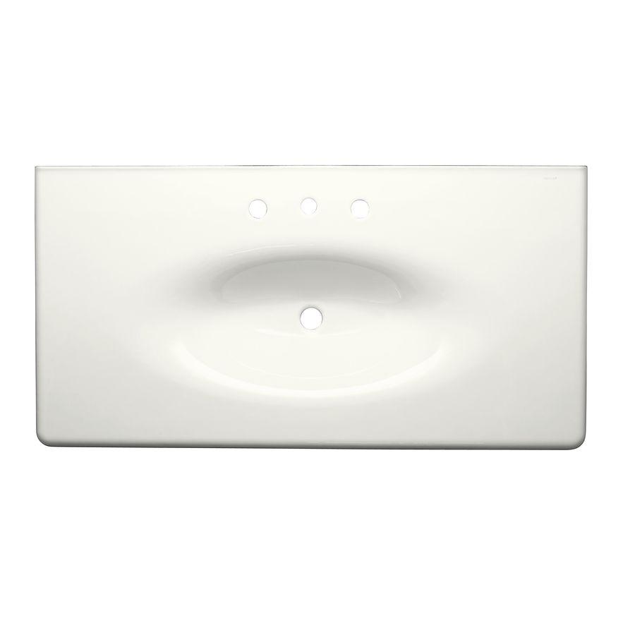 Kohler Iron Impressions White Cast Integral Bathroom Vanity Top Common 44 In X 23 Actual 43 625 22 25 I