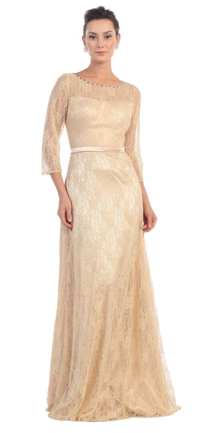 Long sleeve lace mother of the bride plus size formal dress the