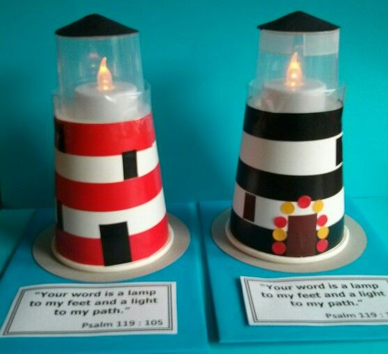Lighthouse Messy Church Light Theme Paper Cup Small