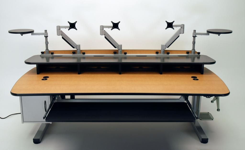 Height adjustable music production desk martin ziegler