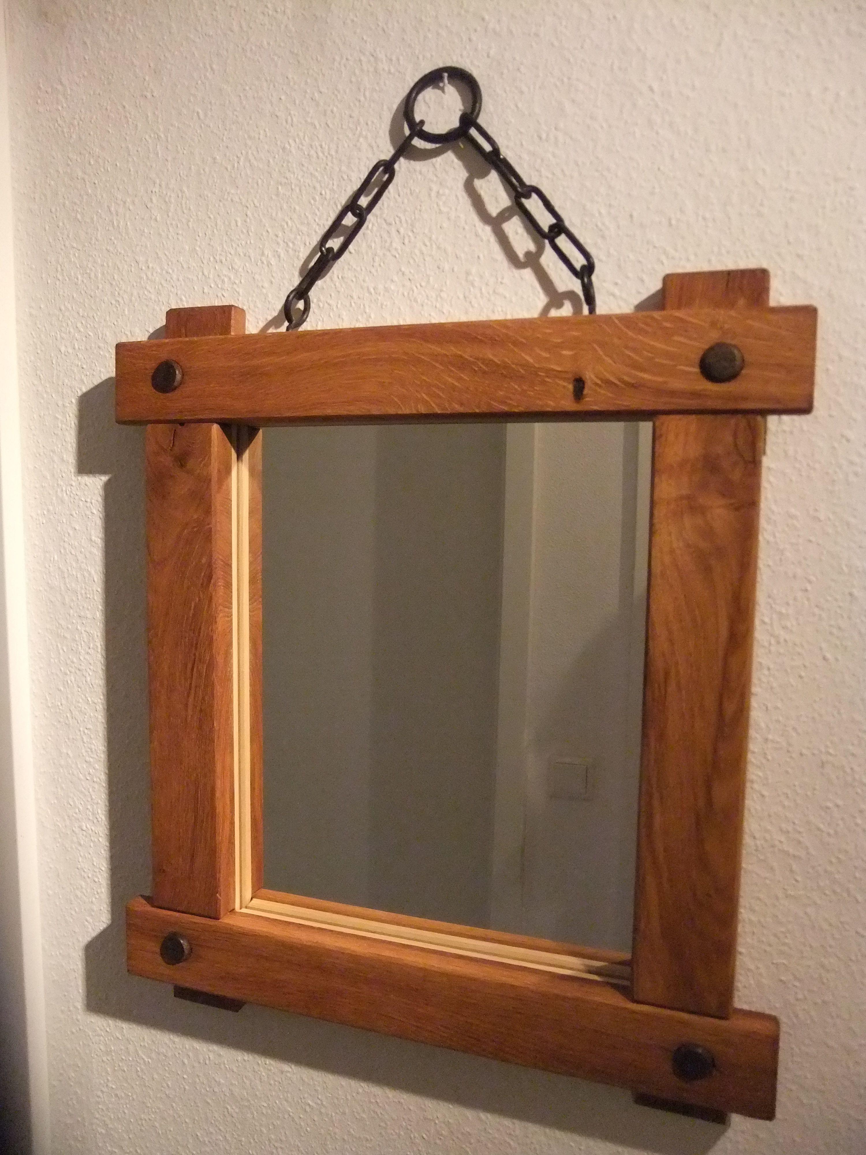 Spiegel Eiche 50x43 Cm Dieser Schone Schwere Spiegel Aus Massiver