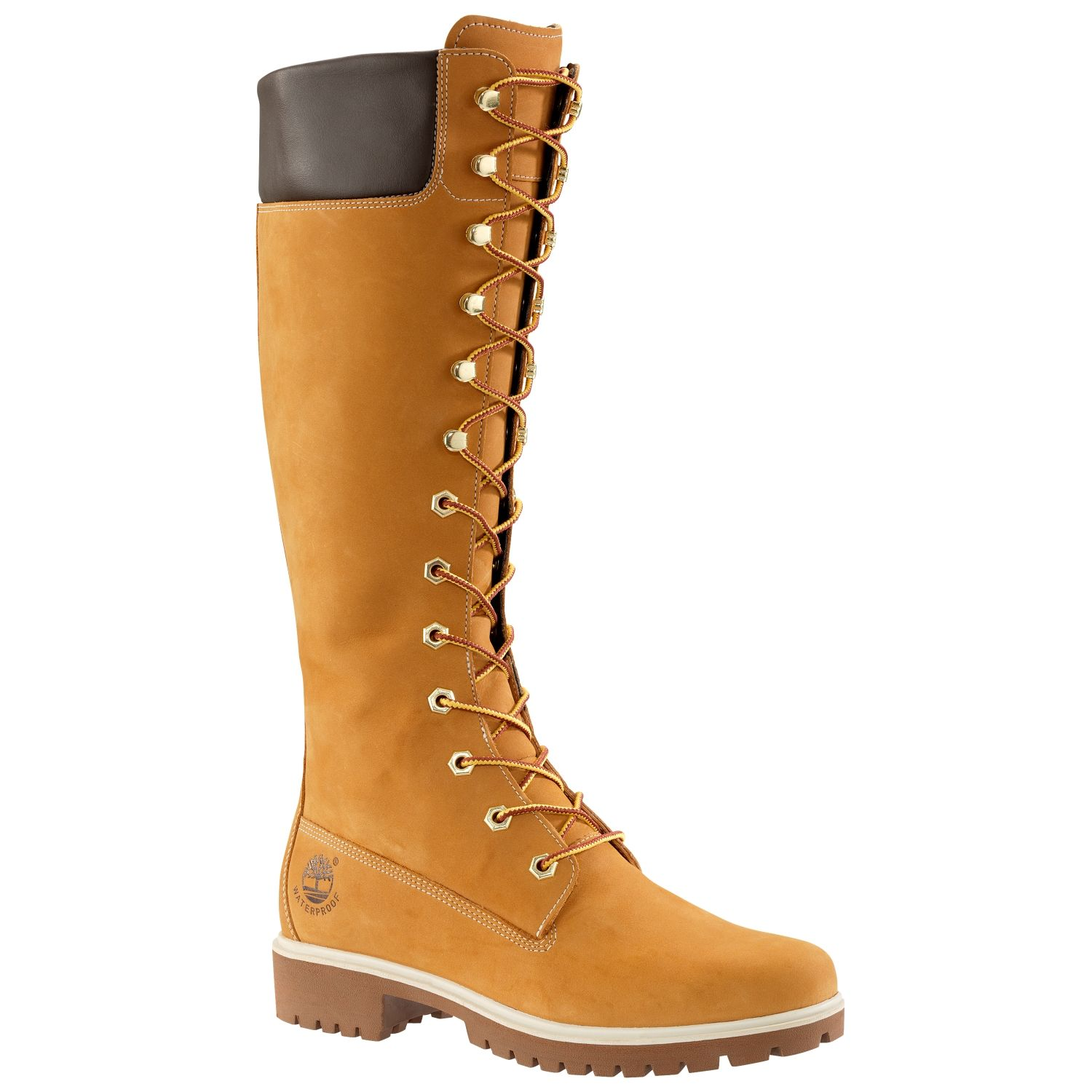 Timberland Women's Premium 14 Inch Waterproof Lace up Boots Style 3752R  Wheat