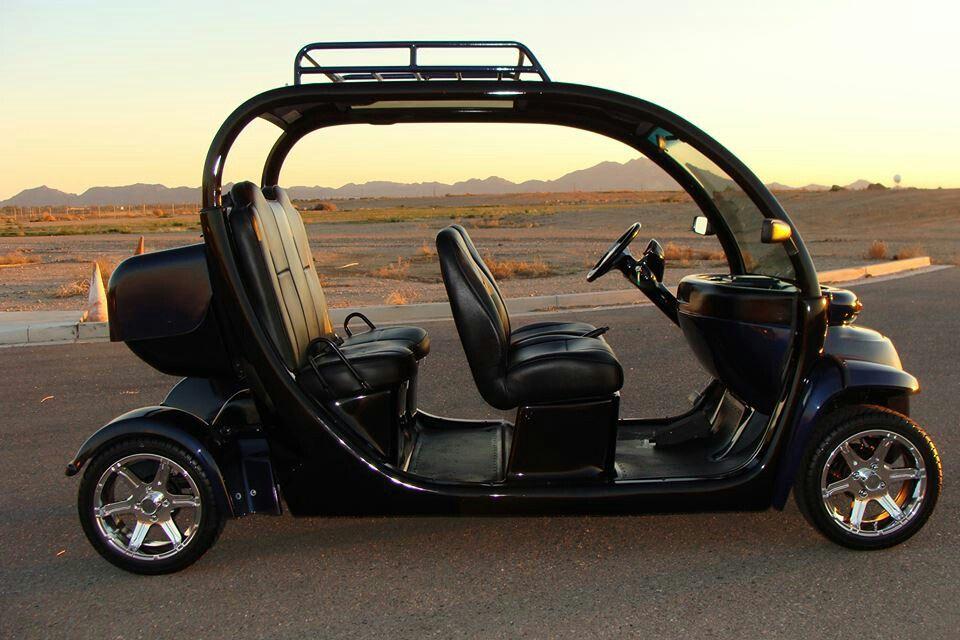 Black custom Gem car Golf car, Gem electric car, Custom