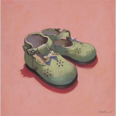 Oopsy Daisy Baby Shoes Canvas Art