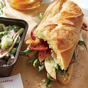 Roasted Green Bean, Apple, and Bacon Sandwiches   MyRecipes.com