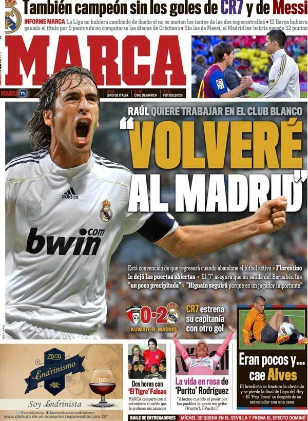 La portada del 17 de mayo de 2012