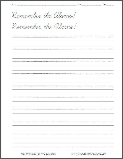 penmanship worksheets | Printable Handwriting Practice Worksheets ...