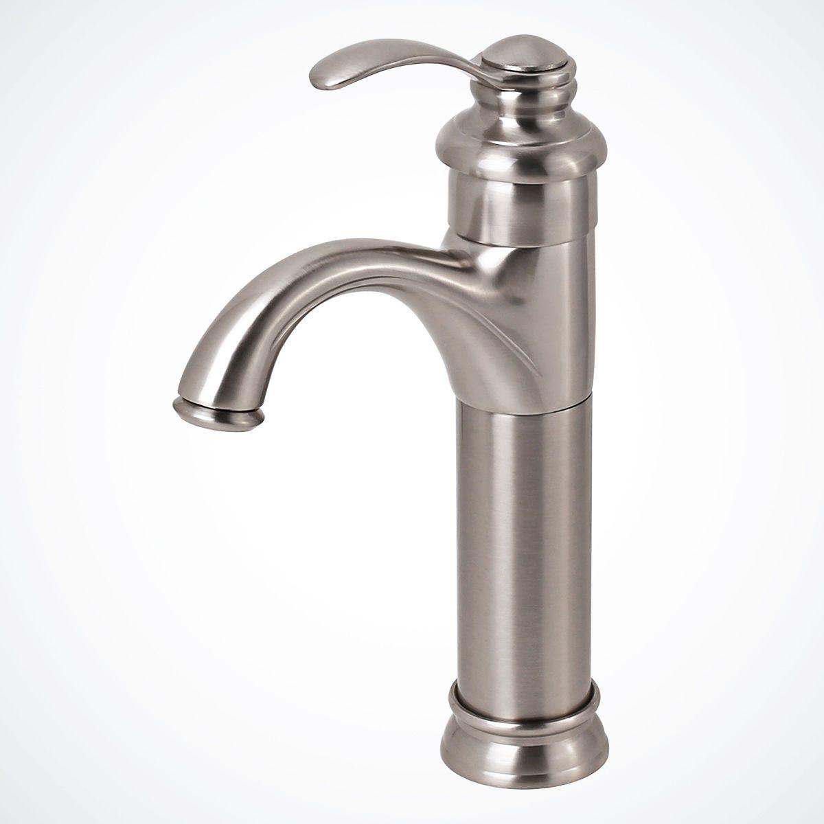 New Brushed Nickel Euro Modern Bathroom Vessel Sink Faucet Vanity