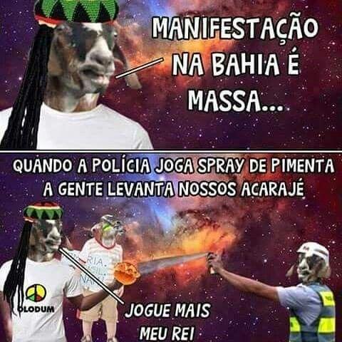 Manifestação na Bahia