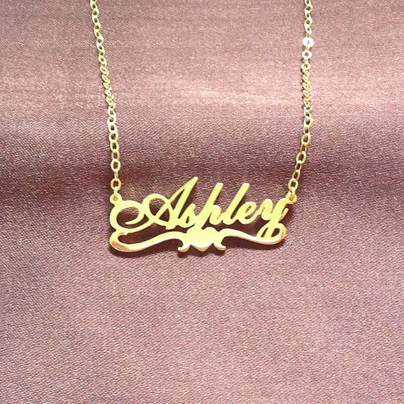 Rose Gold Name Necklace Name Necklace Cursive Name Necklace Etsy Star Necklace Gold Gold Name Necklace Gold Charm Necklace