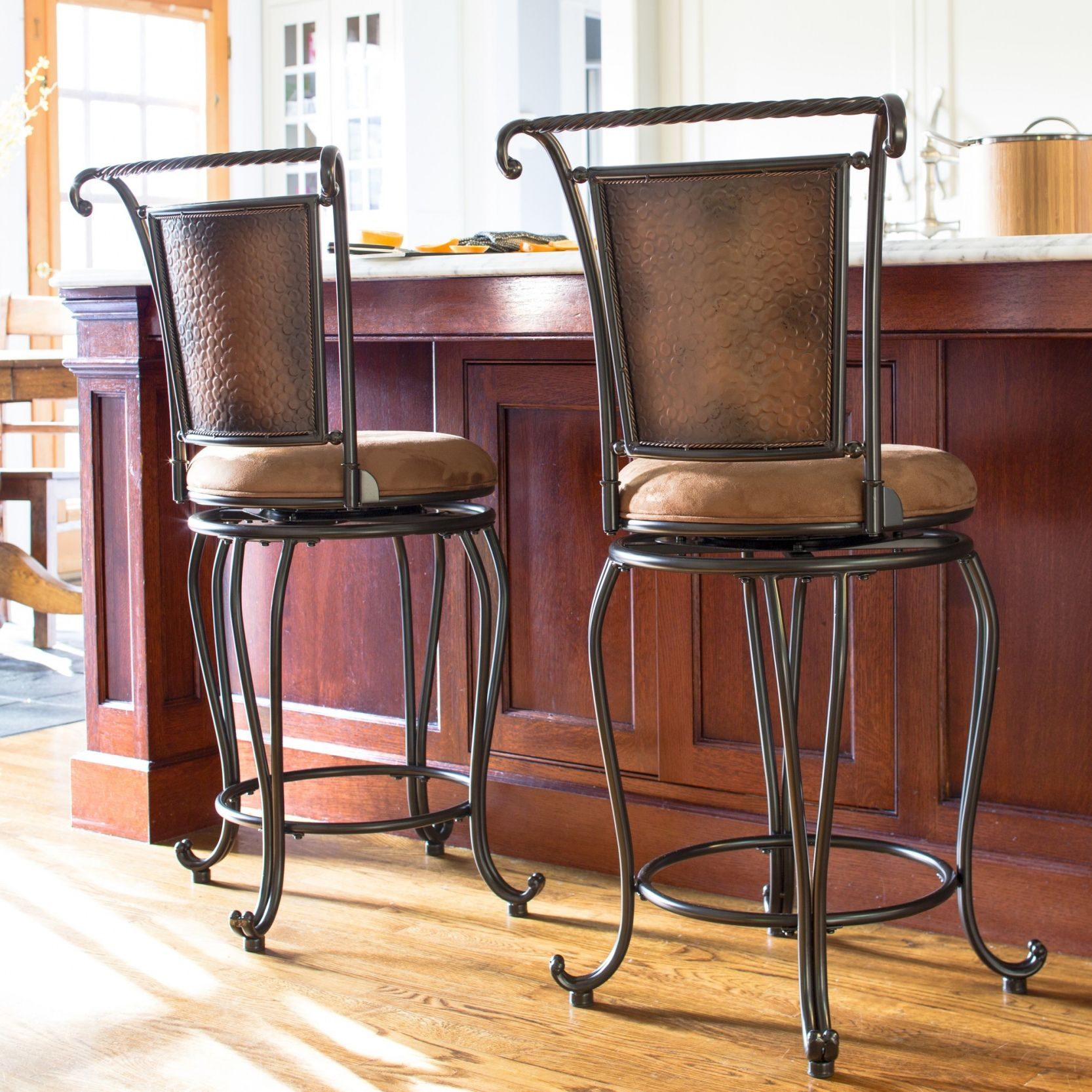 Superb 20+ Wrought Iron Swivel Bar Stools   Modern Classic Furniture Check More At  Http: