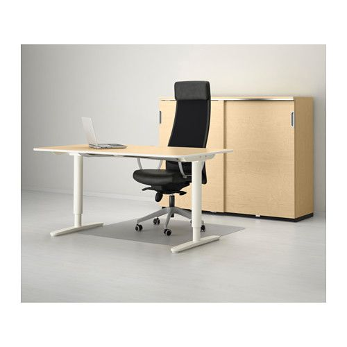 Bekant Desk Sit Stand Ikea You Can Adjust The Height Of