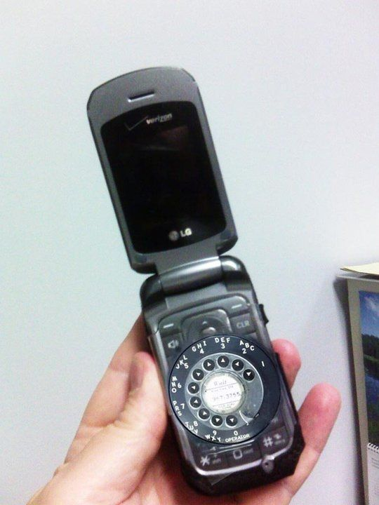 old geezer's cell phone