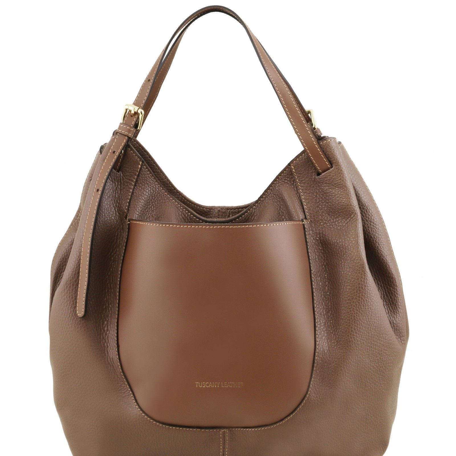 0799330732bf Tuscany Leather Soft Shopping Shoulder Bag With Adjustable Handle Made In  Italy