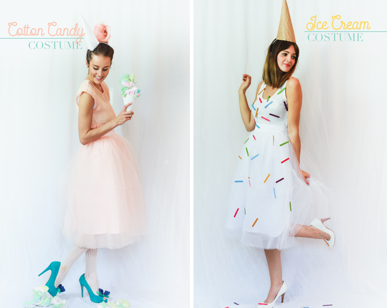 Ice Cream and Cotton Candy | Last-Minute DIY Halloween Costume Ideas ...