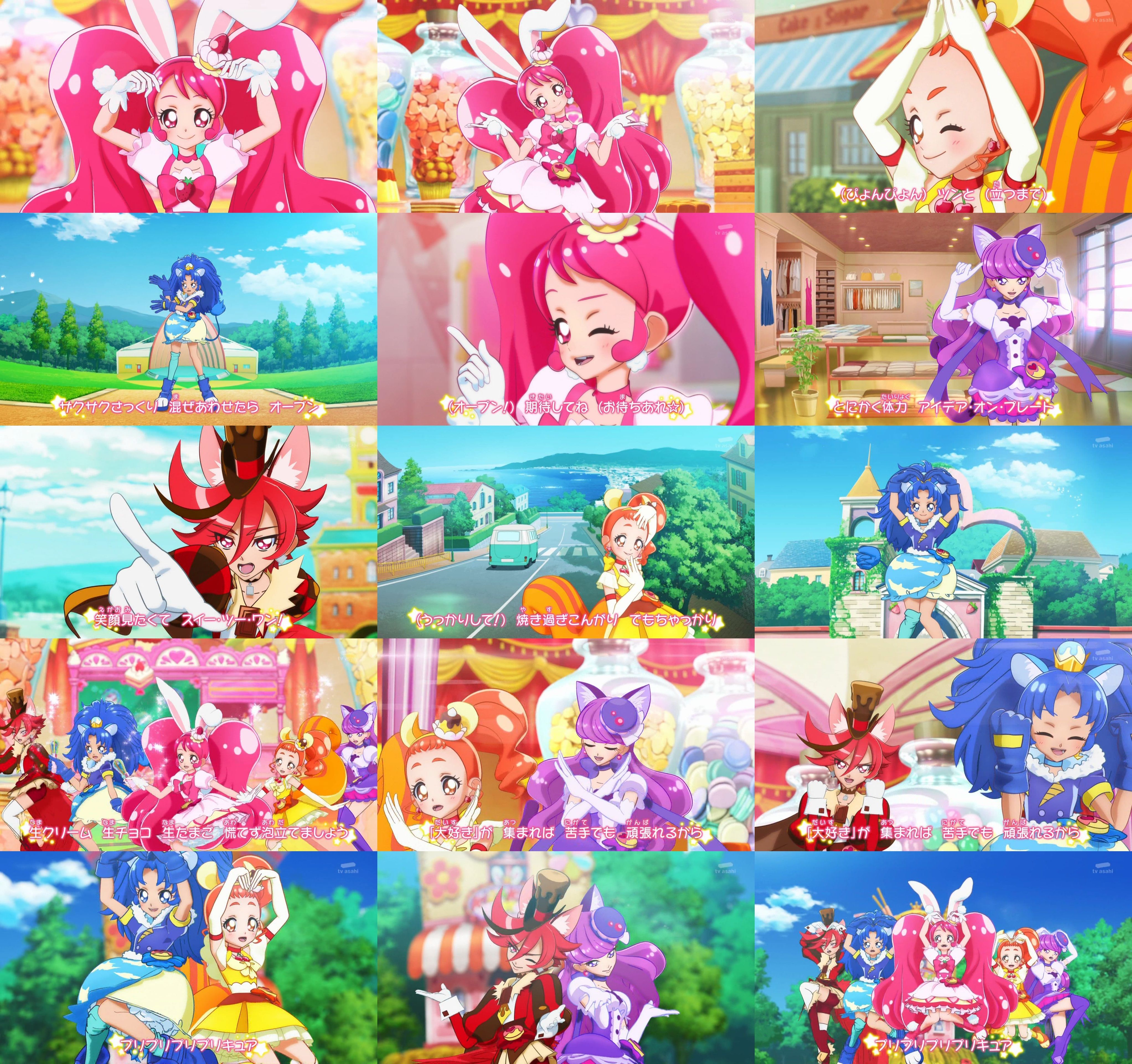 kirakira precure a la mode 1 ending pretty cure pretty and cute anime