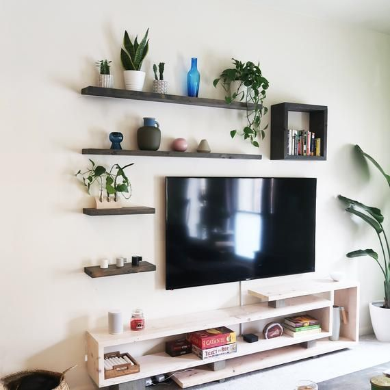 Floating Shelves Wooden Shelves Picture Ledge Shelf Bracket Industrial Shelf Wall Shelves Living Room Wall Shelves Design Living Room Tv Wall