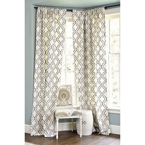 Ballard Designs Firenze Embroidered Panel In Grey Or Spa