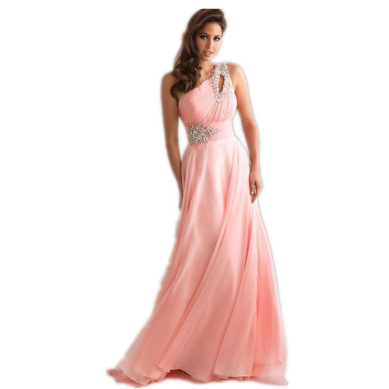 Vestido De Festa Longo Pink Formal Long Evening Dresses 2016 New ...