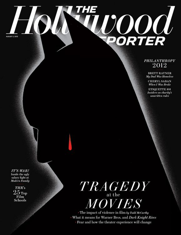 "The Hollywood Reporter, August 2, 2012""Tragedy at the Movies,"" illustration by Edel Rodriguez"